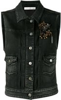 Golden Goose Deluxe Brand jewelled denim gilet