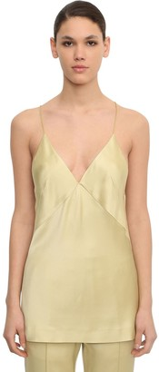 Haider Ackermann Shiny Viscose Blend Camisole Top