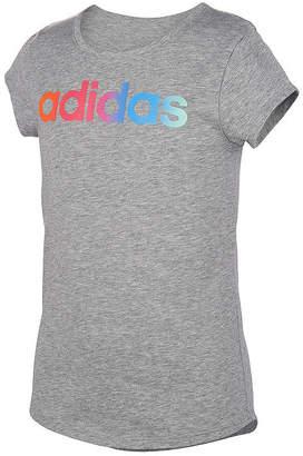 adidas Girls Round Neck Short Sleeve Graphic T-Shirt - Big Kid