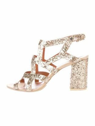 Givenchy Animal Print Gladiator Sandals Gold