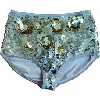 By Malene Birger Gold Glitter Shorts