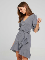 Portmans Gingham Wrap Dress