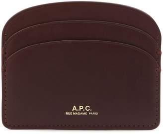 A.P.C. Half-Moon leather card holder