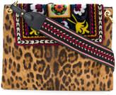 Etro leopard and aztec print shoulder bag