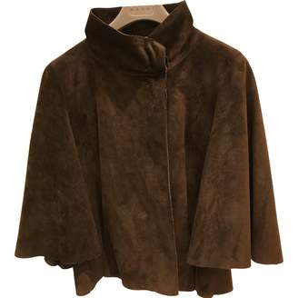 Marni Brown Suede Leather jackets