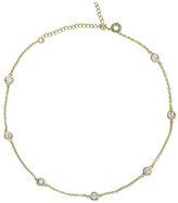 "CZ by Kenneth Jay Lane - 16"" Gold Plated Station Necklace"