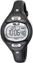Timex Women's T5K187 Ironman Essential Pulse Black/Purple Resin Strap Watch