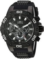 Invicta Men's 'Speedway' Quartz Stainless Steel and Silicone Casual Watch, Color: (Model: 22686)