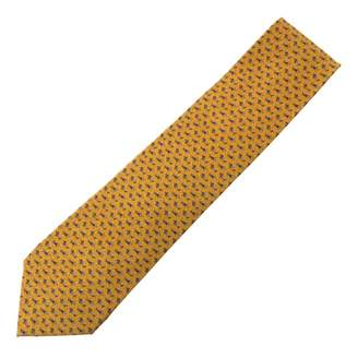 Bulgari Yellow Silk Ties