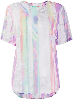 Wolford tulle abstract print T-shirt