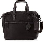 Cole Haan Leather-Trim Canvas Messenger Bag, Black