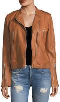 Rag & Bone Lyon Zip-Front Leather Jacket