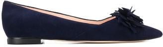 Stuart Weitzman Floral Applique Ballerina Shoes