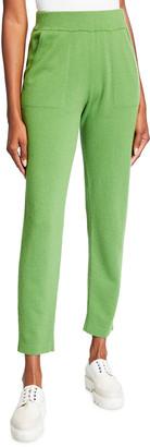 Akris Cashmere Side-Zip Conical-Leg Pants