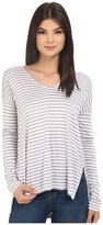 BB Dakota Bryton Yarn Dye Strip Rayon Jersey V-Neck Top