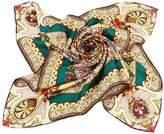Grace Scarves 100% Silk Scarf, Large, Divine Mandala Sunburst, Twill, Pink & Yellow