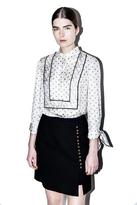 3.1 Phillip Lim Printed tie-sleeve blouse
