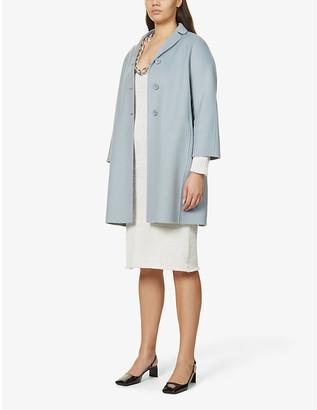 S Max Mara Paris notch-lapel wool coat