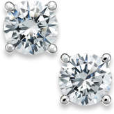 X3 Certified Diamond Stud Earrings in 18k White Gold (1/2 ct. t.w.)