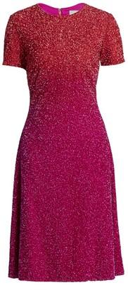 Pamella Roland Ombre Sequin Cocktail Dress
