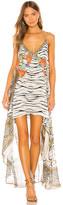 Camilla Flared Mini Sheer Overlay Dress