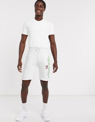 Polo Ralph Lauren flag sport logo sweat shorts in white