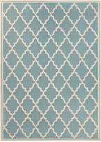 "Couristan Monaco Indoor/Outdoor Ocean Port Turquoise-Sand 7'6"" x 10'9"" Area Rug"