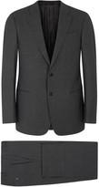 Armani Collezioni G-line Charcoal Stretch Wool Suit