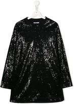 MSGM Kids TEEN sequined knitted dress