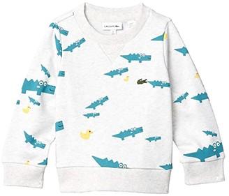Lacoste Kids Until 8 Fun Croc Sweatshirt (Toddler/Little Kids/Big Kids) (Alpes Grey Chine/Multicolor) Boy's Clothing