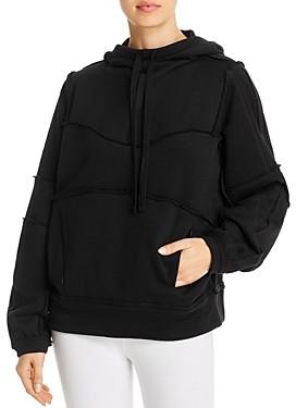 Alo Yoga Dimension Raw-Edge Hooded Sweatshirt