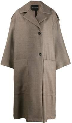 Cavallini Erika oversized wool coat