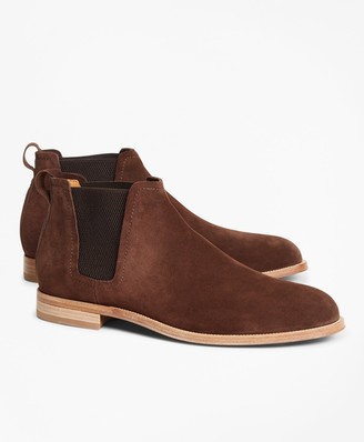 Brooks Brothers Chelsea Suede Boots