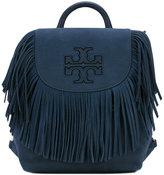 Tory Burch Harper fringe backpack - women - Suede - One Size