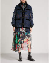 Sacai Floral chiffon jacket
