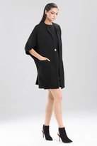 Josie Natori Double Knit Jersey Coat