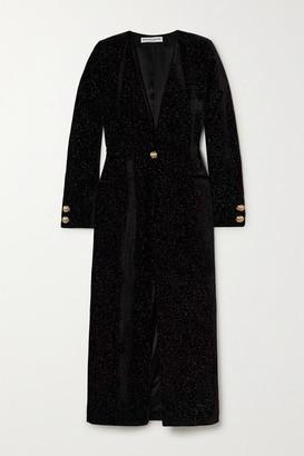 MARTIN MARTIN Victoria Glittered Velvet Coat - Black