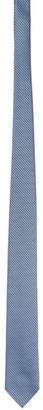 Ermenegildo Zegna Blue Scallop Silk Tie