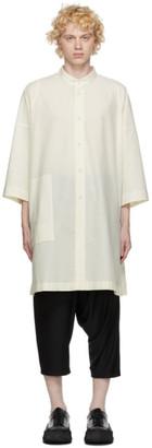 132 5. ISSEY MIYAKE Off-White Cotton Poplin Shirt