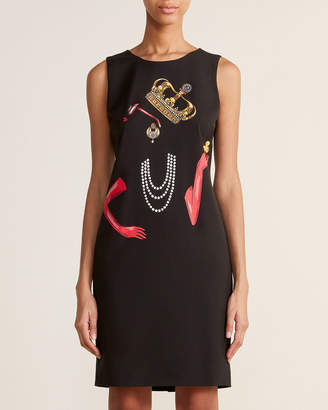 Moschino Black Crown Shift Dress