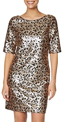 Betsey Johnson Leopard Sequin Shift Dress