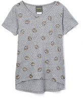Jerry Leigh Silver Ice Turtle Head Hi-Low Tee - Girls