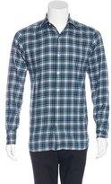 Tom Ford Plaid Woven Shirt