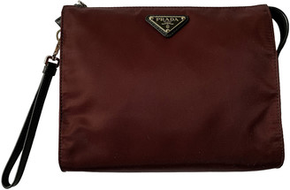 Prada Burgundy Synthetic Small bags, wallets & cases