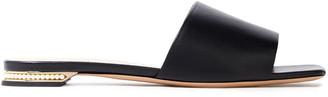 Nicholas Kirkwood Casati Faux Pearl-embellished Leather Slides