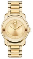 Movado Bold Luxe Goldtone IP Stainless Steel Bracelet Watch