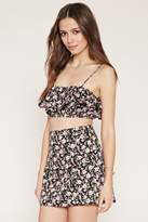 Forever 21 FOREVER 21+ Flounced Floral Cropped Cami