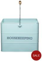 Kitchen Craft Living Nostalgia Vintage Housekeeping Box - Blue