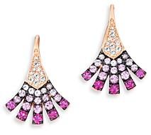 Bloomingdale's Ruby & Pink Sapphire Fanned Drop Earrings in 14K Rose Gold - 100% Exclusive