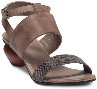 Antelope Ankle Strap Egg Heel Sandal